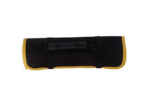 JHKJ Werkzeugtaschen Scrollen, mehrere Fächer, tragbare Werkzeugkoffer-Beutel-Beutel-Fachmann für Holzbearbeitung-Elektriker-Techniker-Maler,Black,1pieces