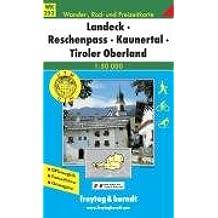 Landeck-Reschenpaß-Kaunertal, Tiroler Oberland. Wanderkarte. 1 : 50 000