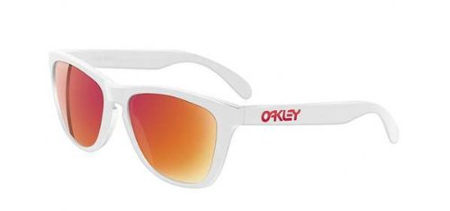 Oakley Frogskins Polished White w/Ruby Iridium Sunglasses (03-252)