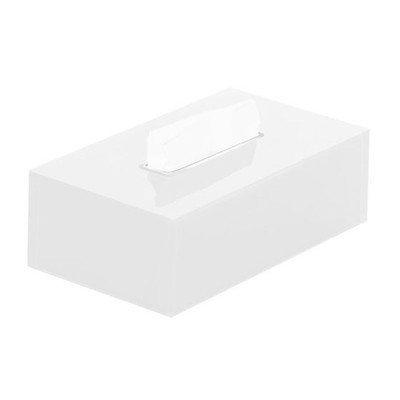 Rainbow Tissue Box Cover Color: White by Gedy by Nameeks -
