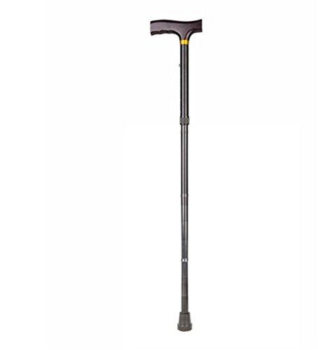 Huwai Falten Walking Cane Walking Stick mit Männern/Frauen verstellbare tragbare Walking Stick Mobility Aid 80.5-92 cm Einstellbar (Blak)