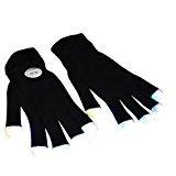 # 1 Premium LED-Beleuchtungs-Handschuhe, blinkende Finger emazing Lichter, Rave Handschuhe, bunte Partei Tanz Handschuhe, Geburtstag, EDM, Disco, Dubstep Partei, 6 (Joker Kind Handschuhe)