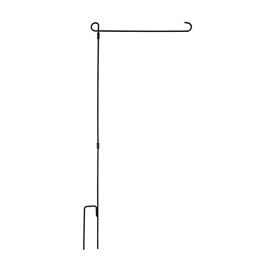 Zdmathe Jardin Mât de drapeau flag Stand, Noir Fer Forgé Petit drapeau debout pour Yard Garden Flag Pole Flag Plat - 36,6 \