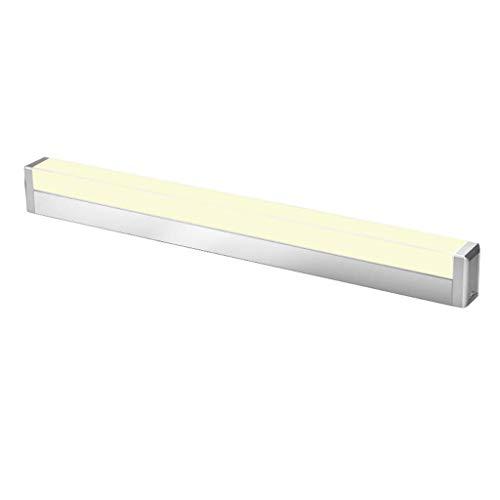 WENYAO Eitelkeit Badezimmer Licht Badezimmerspiegel Frontleuchte Waschbecken einfache Moderne Make-up Beleuchtung-Silber (warmes Licht, 45CM / 9W, 59CM / 12W) (Größe: 59CM / 12W) -