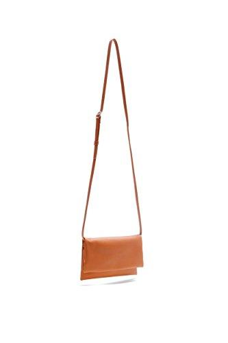 Pretty Nana Donna Made In Italy Clutch/ Tracolla/ Handbags Pelle Lily 730 Cuoio