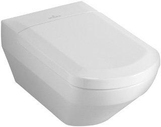 Preisvergleich Produktbild Villeroy & Boch Wand WC (ohne Deckel) Tiefspüler SENTIQUE hänge WC 38x59cm weiß alpin mit Ceramikplusbeschichtung, 562210R1
