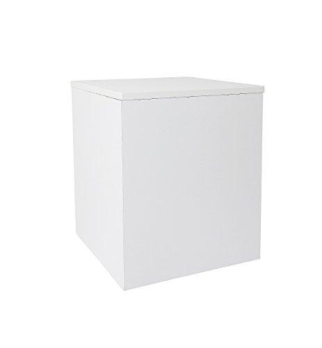 Hermesmöbel Tabouret pour Pot de Fleur, Table d'appoint, Blanc, Dimensions : L 30 x l 30 x H 40 cm. Travail de qualité Issu de l'artisanat Allemand