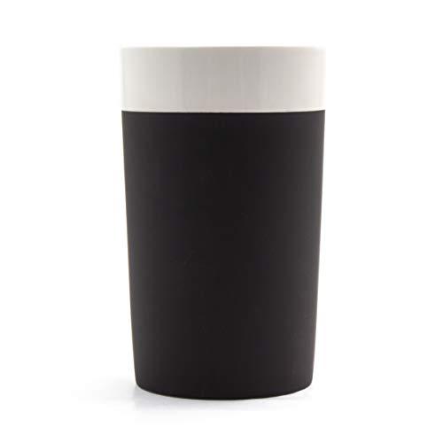 Magisso Selbst abkühlende Flaschenkühler, Keramik, schwarz/weiß 13 x 13 x 20.8 cm