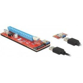 DeLock Riser Karte PCI Express x1 x16 mit 60 cm USB Kabel - Pci-express-x1-karte