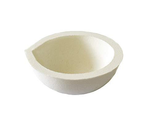 LLF Plat à creuset en céramique pour four à fondre Doré/argenté
