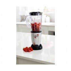 Mediashopping - Frullatore hm496983 capacitá 0.5 litri potenza 230 watt colore nero/rosso