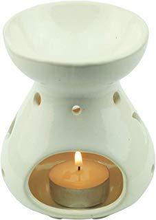 Tom Barrington Aromatherapie Öl-Wärmer Ätherische Öle Porzellan Dekoration Tropfenform Himmelliches Design Eierschale Weiß - Porzellan Wärmer