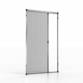 Noflystore platinum.02 zanzariere plissettate su misura per porte e finestre, colore: grigio, misura: 75 x 190 cm, made in italy
