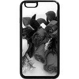 iPhone 6S Plus Coque, iPhone 6Plus Coque (Noir et Blanc)-Roses de Noël