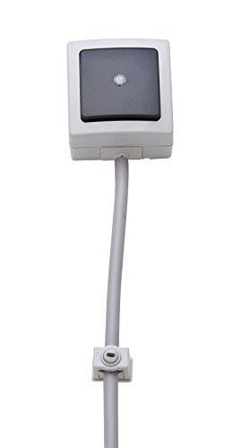Kopp Greif Iso-Schellen aus Kunststoff (10 Stück), 6 - 16 mm, M6 Gewinde, Kabelbefestigung für Leitungen und Rohre, mit Schraubloch & Klemmschraube, grau, 341704089