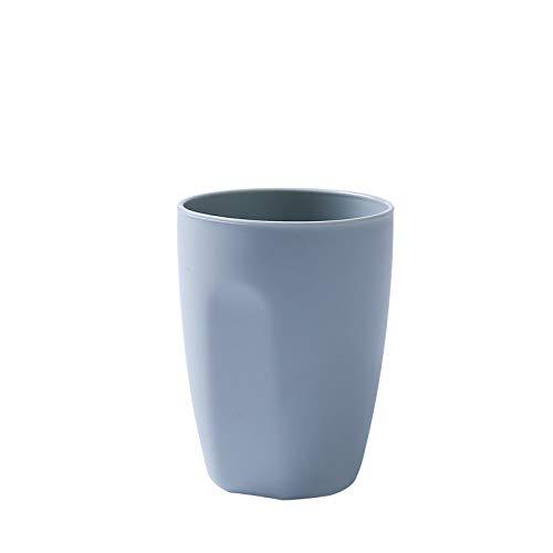 Einfache mund tasse runde kunststoff zahnbürste tasse paar bürsten tasse bad bad haushalt topf tasse blau -