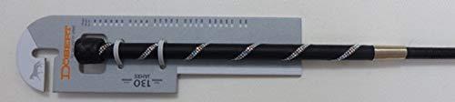Döbert Dressurgerte mit Ledergriff Lederschlag Zwei Reihen Strass 110 cm Gerte schwarz