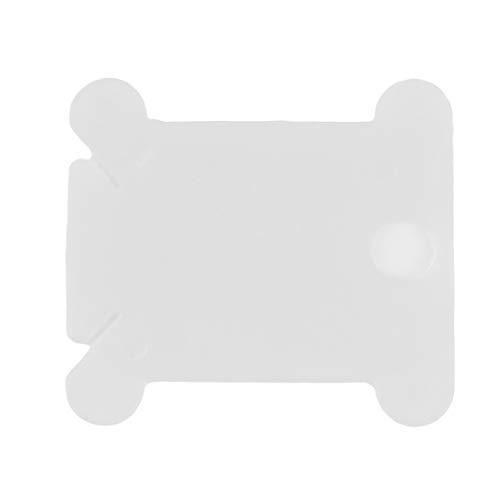 Sperrins 100 Stücke Kunststoff Stickerei Floss Craft Gewinde Spule Kreuzstich Lagerung Inhaber Farbe Wickelbrett Kreuzstichwickler Weiß (Thread-inhaber)