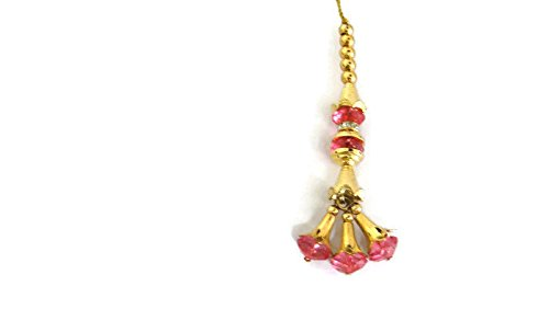 Generic Pink Latkans Saree Latkans Indian Latkans Big Latkans Designer Tassel Blouse Latkan Pink Tear Drop-Price for a Pair-IDLA03 (Bridal Designer Sarees)