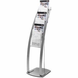 Deflecto Prospektständer Contemporary A4 6 Fächer silber