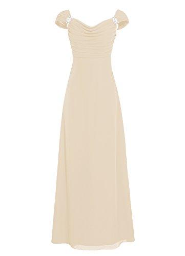 Dresstells, robe longue de demoiselle d'honneur, robe de soirée , robe de cérémonie Champagne