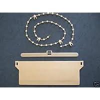 '127mm (5) vertical rideau Kit de réparation, cintres Poids et chaînes blanc x 50