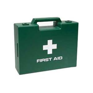 Erste-Hilfe-Koffer von Battles - Grüner Verbandskasten mit Erste Hilfe Symbol und 'First Aid' Beschriftung