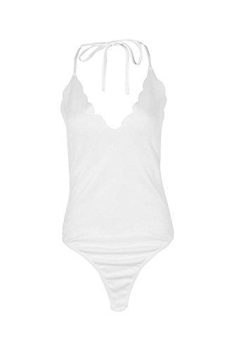 blanc Femmes Emily Body Dos Nu Festonné Blanc