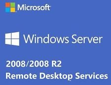 Microsoft Windows Server 2008 RDS TS Remote Desktop Services: 10 User/Device CALS Licences - Terminal Services - OEM