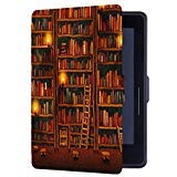 Huasiru Gemälde Hülle Schutzhülle für Alle Kindle Voyage 6 Zoll Case Cover mit Auto Schlaf/Wach Funktion, Bibliothek