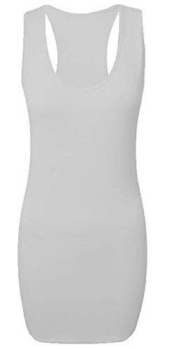 Generic - Débardeur - Moulante - Sans Manche - Femme Multicolore Bigarré Taille Unique Crème