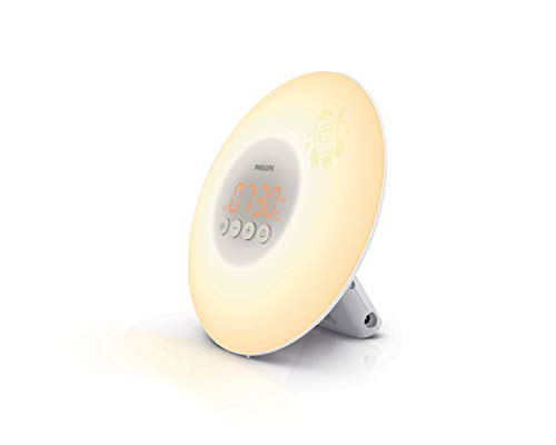 Philips Wake-up Light für Kids HF3503/01 (LED, Aufwachen mit Licht, Leuchttasten, Sticker) weiß (Von Light Wake-up Philips)