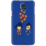 Dragon Ball Z Chibi Vegeta And Goku Hard Plastic Snap-On Case Skin Cover For Samsung Galaxy S5