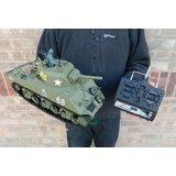 Heng Long Radio Remote Control RC M4A3 Sherman Tank 1:16th Scale Ready to Run!