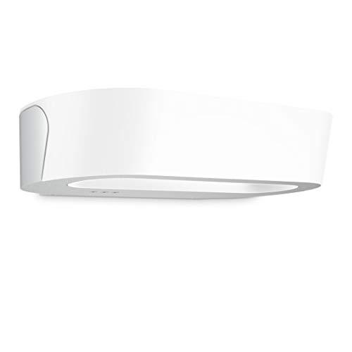 Steinel LED Außenwandleuchte LN 710 LED Silber, 8.6 W Wandlampe mit Dämmerungsschalter, Nachtsparmodus, Softlichtstart