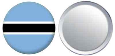 Miroir insigne de bouton Botswana drapeau - 58mm