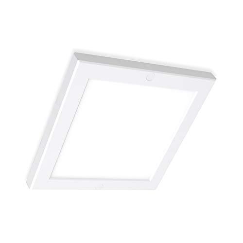 LED Panel Deckenleuchte eckig Aufputz Lampe 220x220mm 18W neutralweiß 4000K Deckenlampe Aufbau Mini-Panel flickerfrei, inkl. Montageleiste, Xtend Serie PLd -