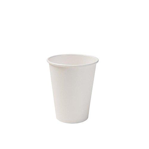 BIOZOYG Bio Pappbecher I Einweggeschirr Trinkbecher Papierbecher kompostierbare und biologisch abbaubare Becher I weiße, unbedruckte, umweltfreundliche Kaffeebecher 50 Stück 300ml 12oz Weiße Becher