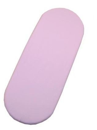 100% Cotton Moses Basket Fitted Sheet / Baby JERSEY Oval Shape Sheets - PINK