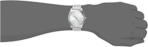 Nixon Man A0451920 Unisex Analogue Watch with multicolour Dial Analogue Display and Stainless steel plated – A045-1920_Silver Tone