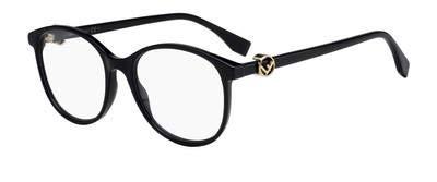 Fendi Damen FF 0299 807 51 Sonnenbrille, Schwarz (Black)