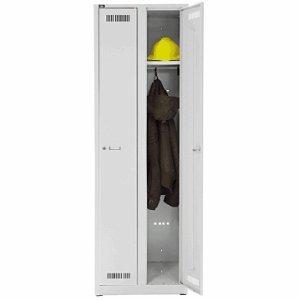 Bisley LIGHT Garderobenschrank 2 Abteile lichtgrau