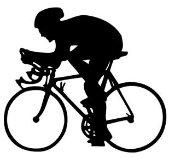 Rennrad Rennsport Fahrrad 15cm Aufkleber ohne Hintergrund von SUPERSTICKI® aus Hochleistungsfolie für alle glatten Flächen UV und Waschanlagenfest Tuning Profi Qualität Auto KFZ Scheibe Lack Profi-Qualität
