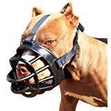 Jinzhao Museruola del cane-Muso di cesto morbido per cani, sicuro e regolabile, ideale per prevenire mordere, masticare e abbaiare Muso capo 17.7-23.2''