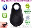 iTag Bluetooth Tracker (Black Colour) itag Anti-Lost Alarm Remote Shutter, selfie click self-portrait,Voice Recorder GPS Tracker . Key Finder Locator Alarm For IOS iPhone Android.