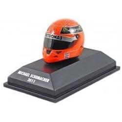"Michael Schumacher Schuberth Miniatura Replica casco ""2011 Edizione"" Michael Schumacher, red, Misura 1:8"