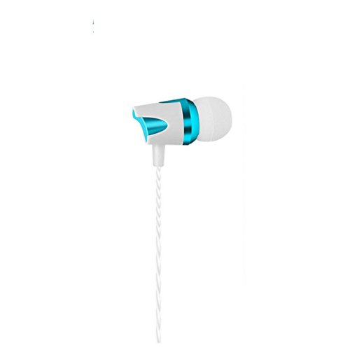Lightspeed Aviation Headsets (QUINTRA Electroplate Stereo Headphone Bass Earphone Sport Headset Hands Free Earbuds (Blau))