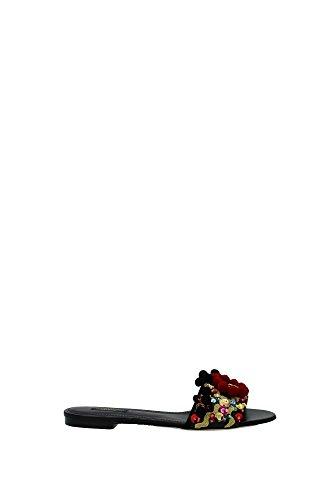 CQ0059AD0808S574 Dolce&Gabbana Badeschuhe Damen Leder Multicolor Multicolor