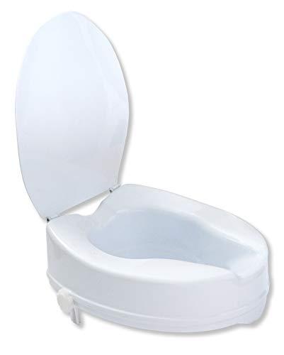 Toilettensitzerhöhung 10 cm mit Deckel