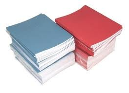 SCHOOL EXERCISE BOOKS 8mm LINES A5 48 Page 165 x 203mm '10 Pack'